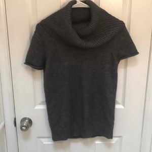BCBGMaxAzria short sleeve wool cowl neck sweater